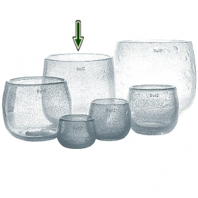 DutZ®-Collection Vase Pot, h 22 x Ø 25 cm, clear with bubbles