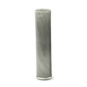 Collection DutZ ®  vase Cylinder, h 40 x Ø 9 cm, gris moyen