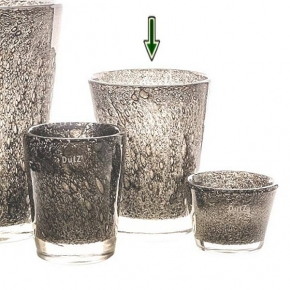 DutZ®-Collection Vase Conic with bubbles, h 24  x  Ø.19 cm, medium grey