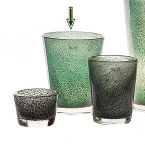 Collection DutZ ®  vase Conic avec des bulles, h 24 x Ø 19 cm, jade