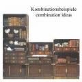 Library Braun, Antikdesign Sockelelement, Massivholz, mit Messingblech verblendet, Maße: B 80 x H 8,5 x T 33 cm